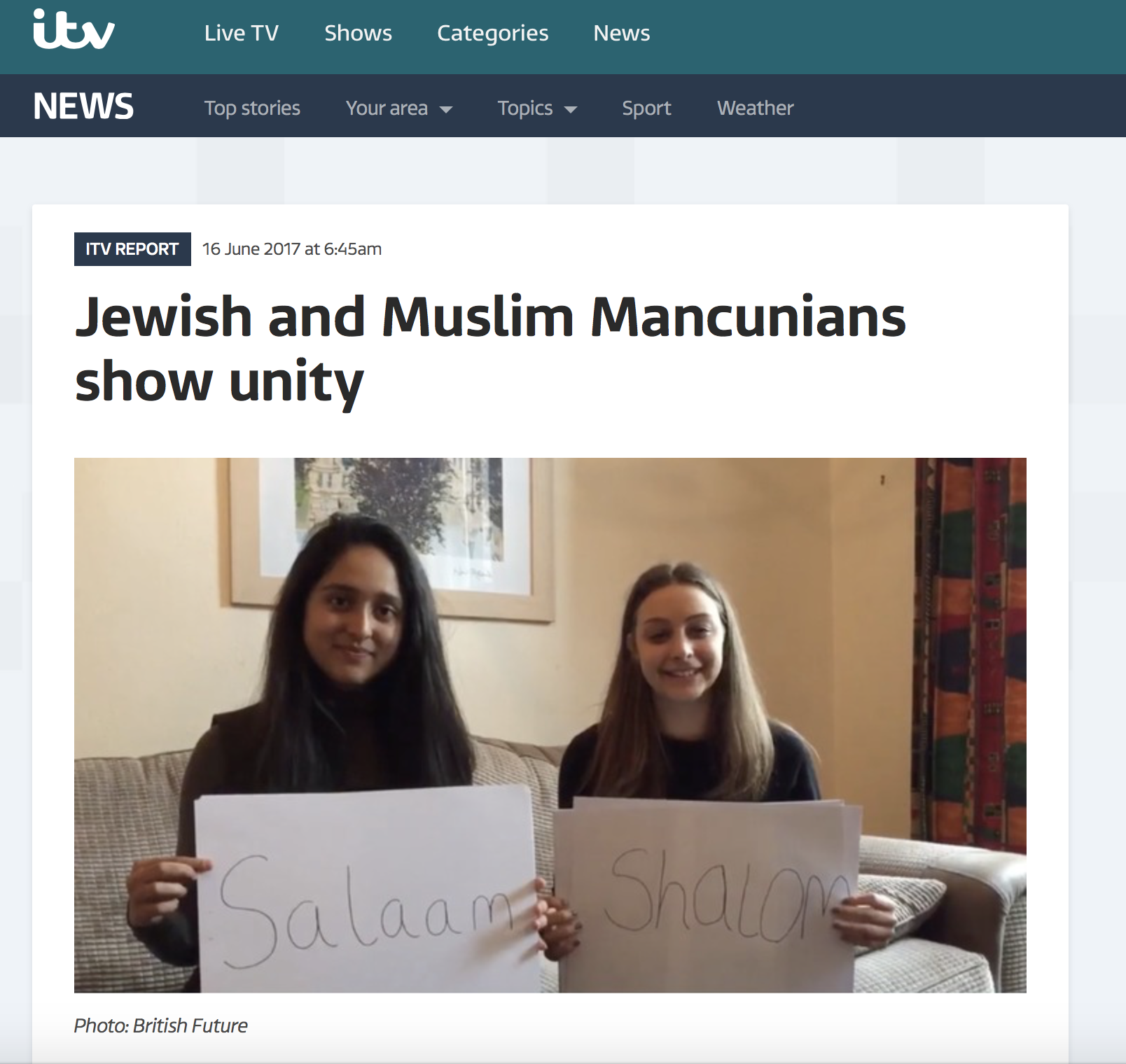 ITV News Online: Great Get Together