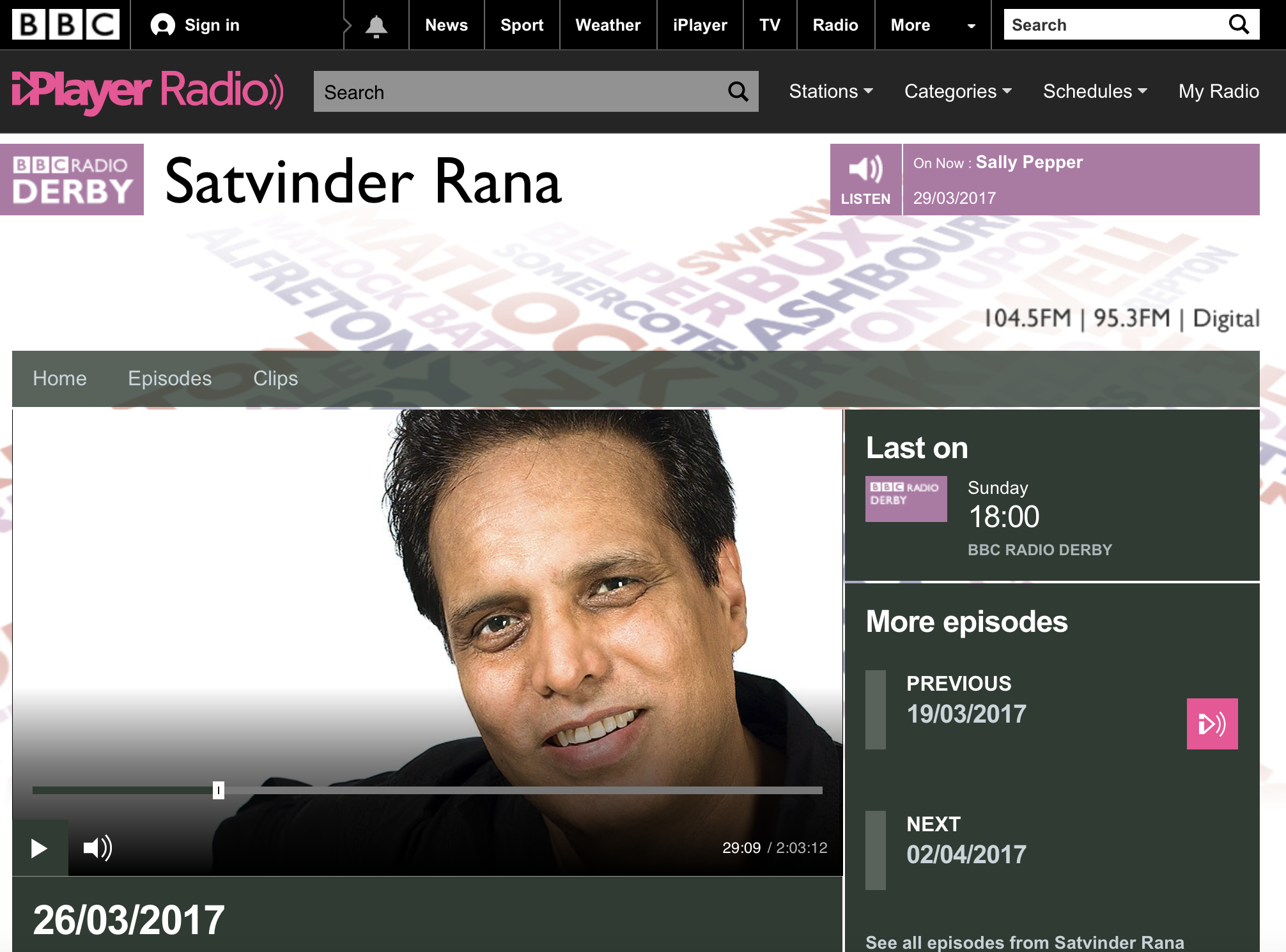 BBC Radio Derby interview with Rabiha Hannan following the Westminster attack